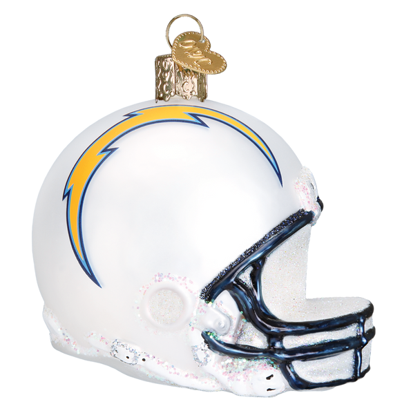 Los Angeles Chargers Old World Christmas Helmet Ornament