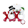 Hugs and Kisses Snowman Couple Ornament For Christmas Tree
