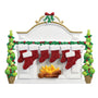 Mantel with Stockings Family of 8 Table Top Decoration