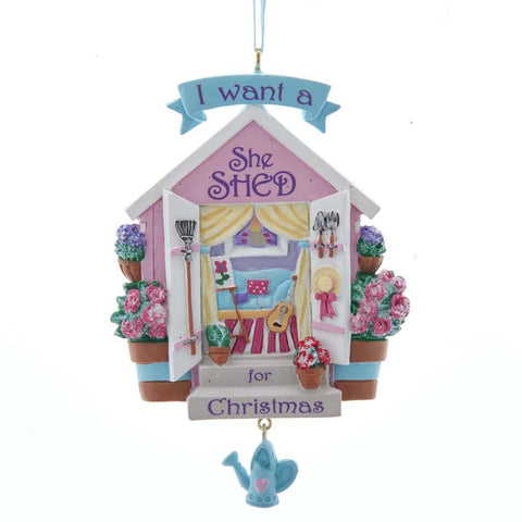 """She Shed"" Ornament"