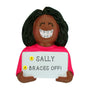 Braces Ornament - Black Female for Christmas Tree