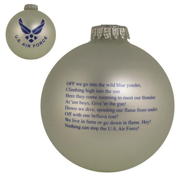Air Force Silver Bulb Ornament for Christmas Tree