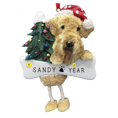 Airedale Dog Ornament for Christmas Tree