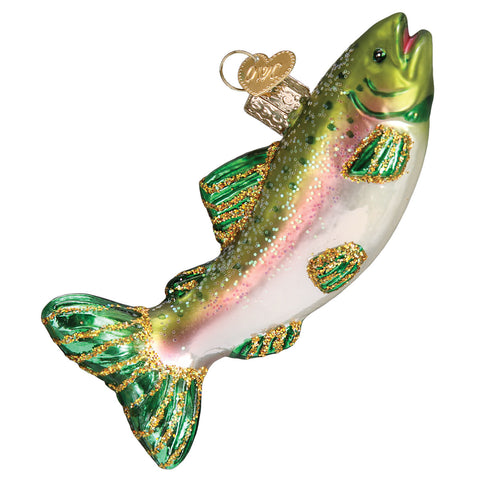 Alpine Rainbow Trout Ornament for Christmas Tree