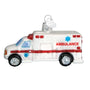 Glass Ambulance Ornament for Christmas Tree