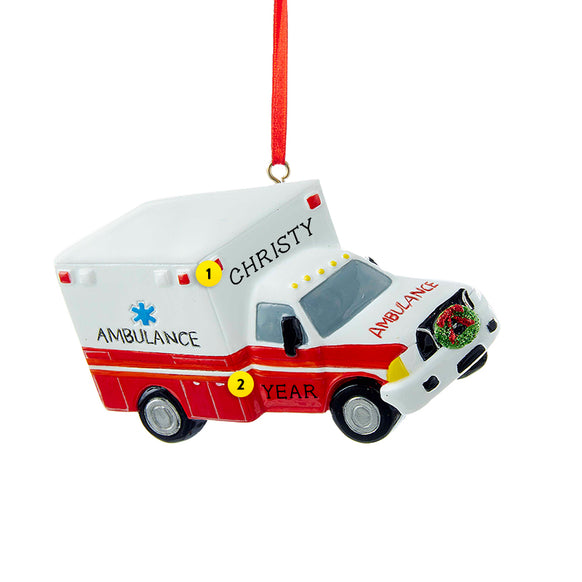 Ambulance Ornament for Christmas Tree