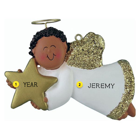 Angel with Star Ornament - African-American Male