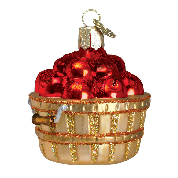 Apple Basket Ornament for Christmas Tree