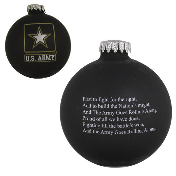 Army Ebony Ornament for Christmas Tree