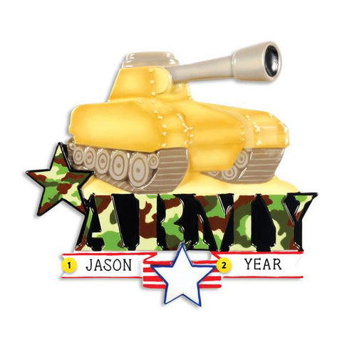 Army Tank Ornament for Christmas Tree