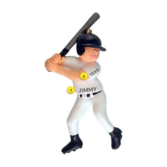 Baseball Player Ornament - Male for Christmas Tree