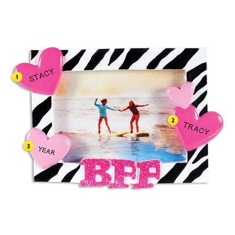 Best Friends Forever Frame Ornament for Christmas Tree