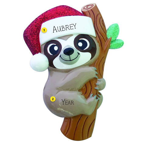 Baby Sloth Ornament