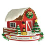 Christmas Decorated Red Barn OrnamentChristmas Decorated Red Barn Ornament