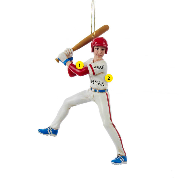 Baseball Player Ornament for Christmas Tree