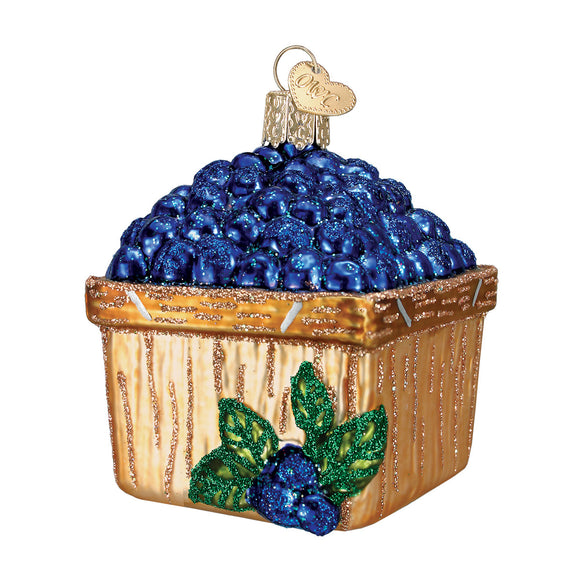 Basket of Blueberries Ornament for Christmas Tree