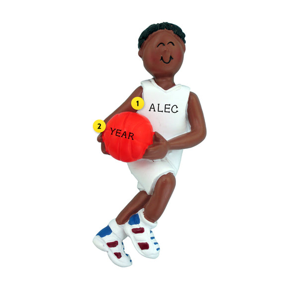 Basketball Ornament - Black Male for Christmas Tree