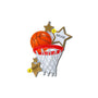 Basketball Star with Net Ornament