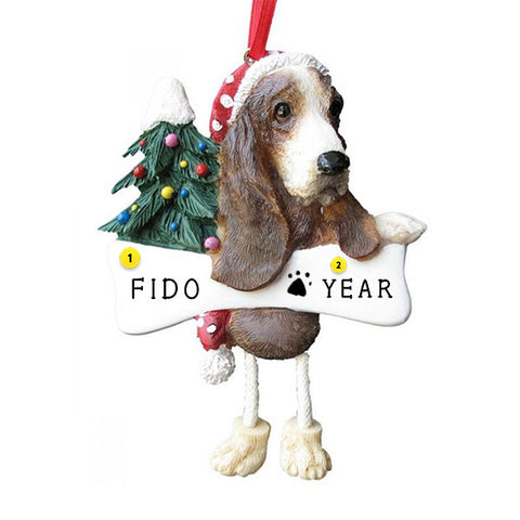 Basset Hound Ornament for Christmas Tree