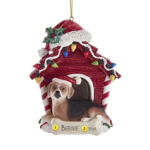 Beagle in Dog House Christmas Tree Ornament