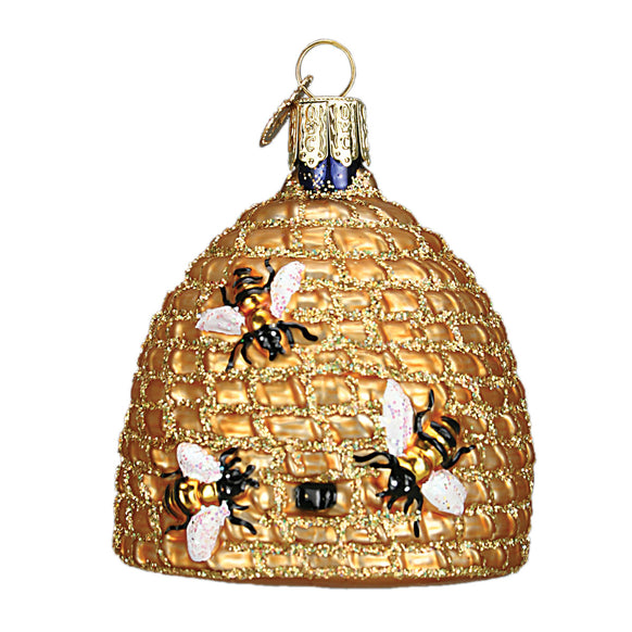 Bee Skep Ornament for Christmas Tree