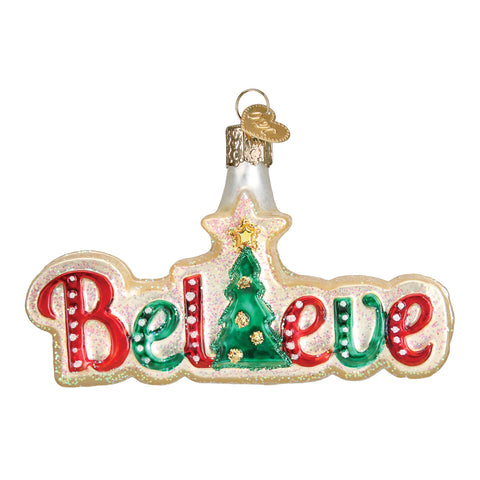 Believe Ornament for Christmas Tree
