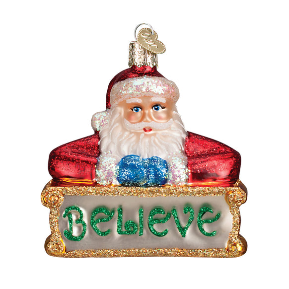 Believe Santa Ornament for Christmas Tree