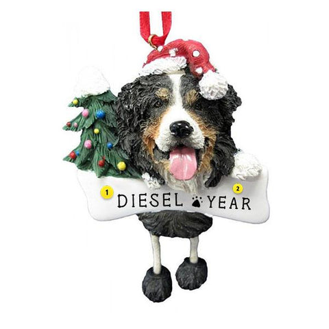 Bernese Mountain Dog Ornament for Christmas Tree