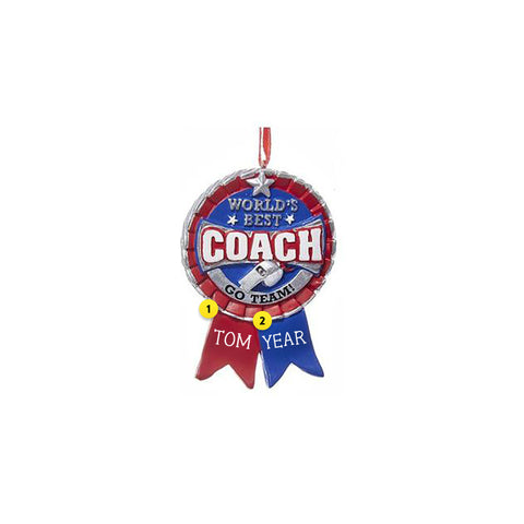 Best Coach Ribbon Ornament
