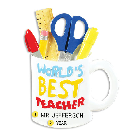 Best Teacher Mug Ornament for Christmas Tree