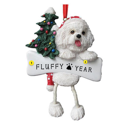 Bichon Frise Dog Ornament for Christmas Tree