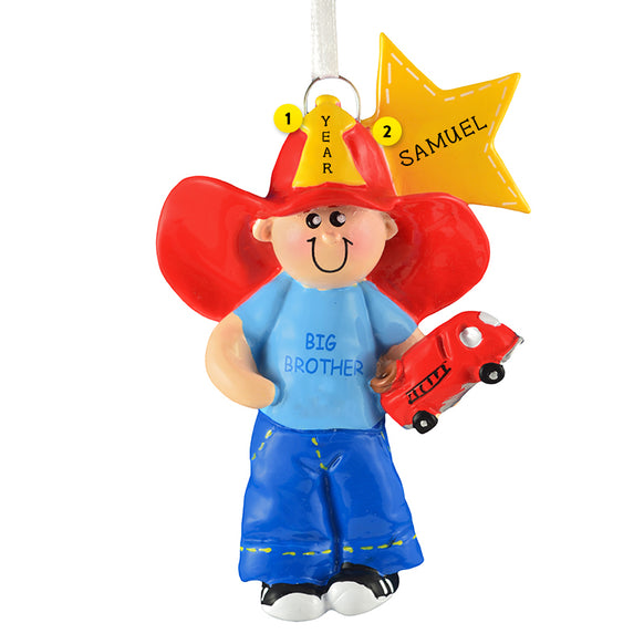 Big Brother Fireman Ornament