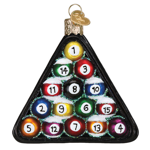 Billiard Balls Ornament for Christmas Tree