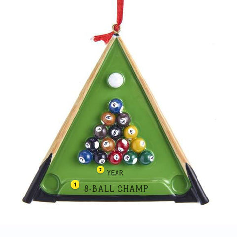 Billiard Christmas tree Ornament