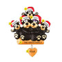 Black Bear Sitting on a Log Family of 5 Ornament for Christmas Tree