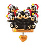 Black Bear Sitting on a Log Family of 6 Ornament for Christmas Tree