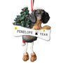 Black Dachshund Dog Ornament for Christmas Tree