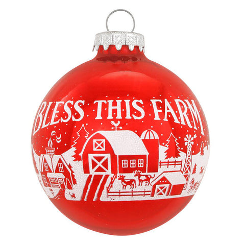 Bless This Farm Ornament for Christmas Tree
