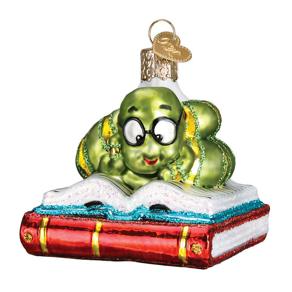 Bookworm Ornament for Christmas Tree