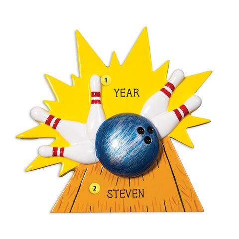 Bowling Ornament for Christmas Tree