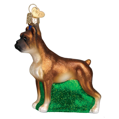 Boxer Ornament for Christmas Tree