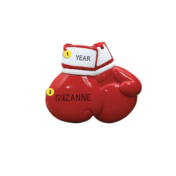 Red Boxing Gloves Ornament for Christmas Tree