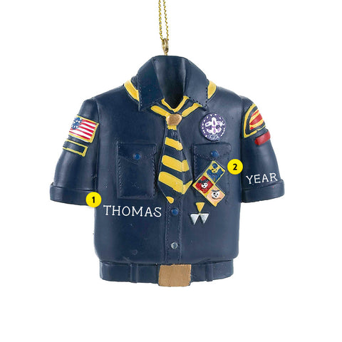 Boy Scouts of America Cub Scout Shirt Ornament for Christmas Tree
