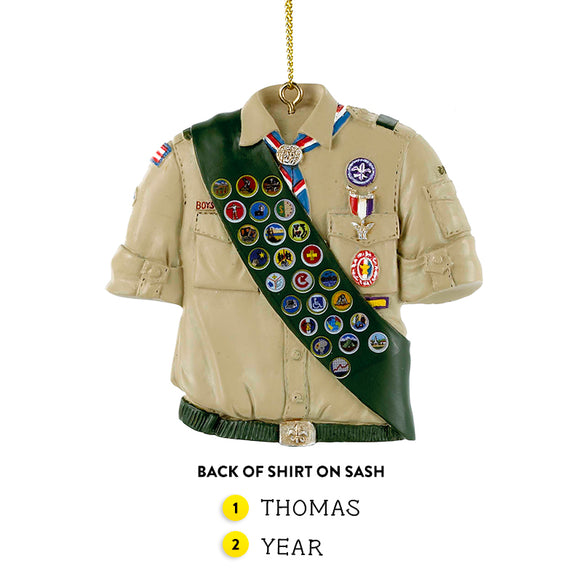 Boy Scouts of America Eagle Scout Shirt Ornament