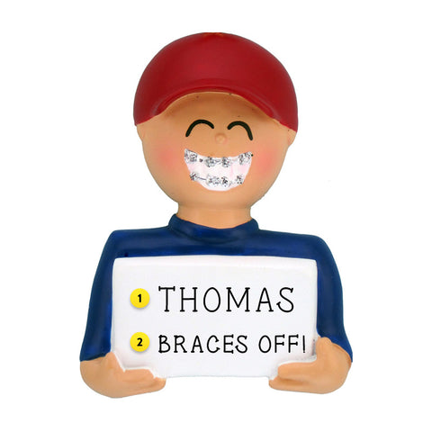 Braces Ornament - White Male for Christmas Tree
