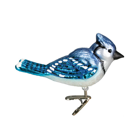 Bright Blue Jay Ornament for Christmas Tree