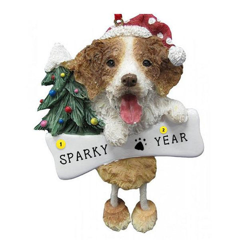 Brittany Spaniel Dog Ornament for Christmas Tree