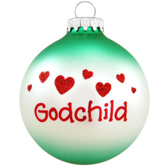 Godchild Glass Bulb Christmas Ornament