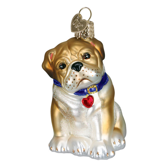 Bull Pup Ornament for Christmas Tree