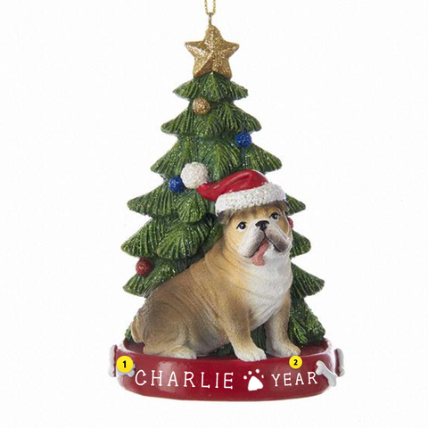 Bulldog Dog Ornament For Christmas Tree
